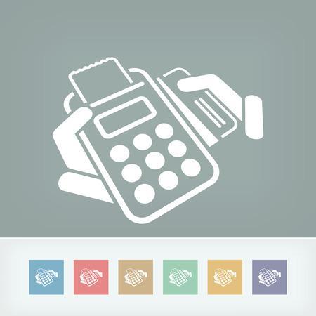 Credit card payment Illusztráció