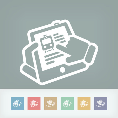 Train web icon Vector