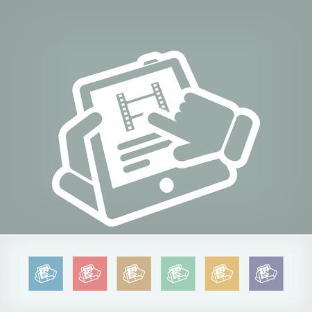 touchscreen: Video touchscreen Illustration