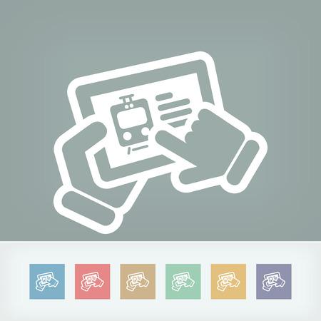 Train web booking Vector