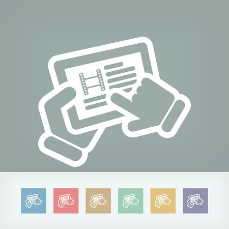 Video touchscreen Vector