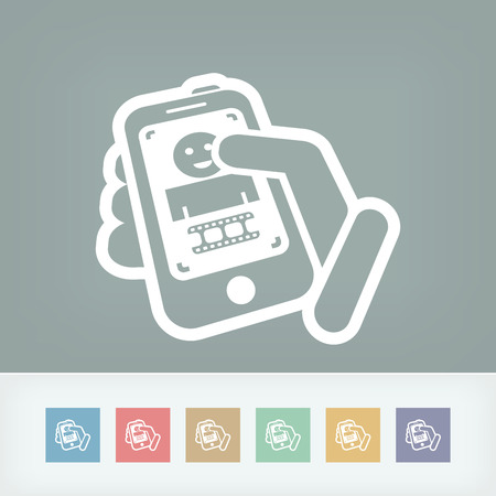 videomaker: Video touchscreen icon
