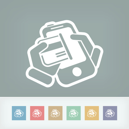 Card phone icon Vector