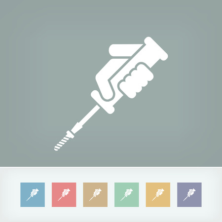 unscrew: Screwdriver icon Illustration