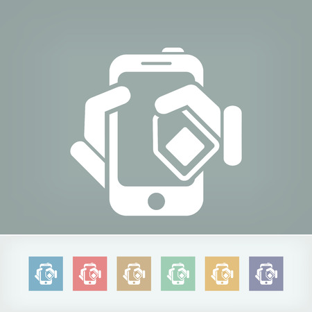 simcard: Phone card icon