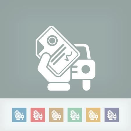Dokument samochodów Ilustracje wektorowe