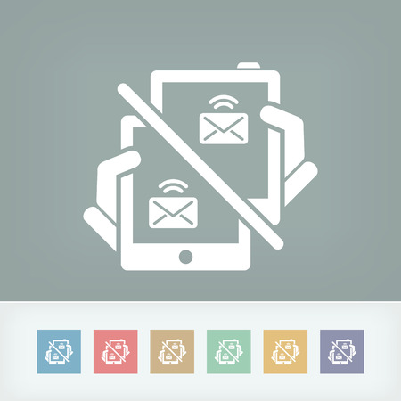 sender: Web message icon Illustration