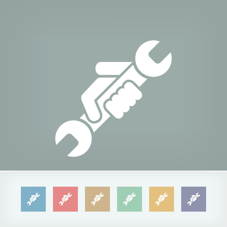 bricolage: Wrench symbol icon