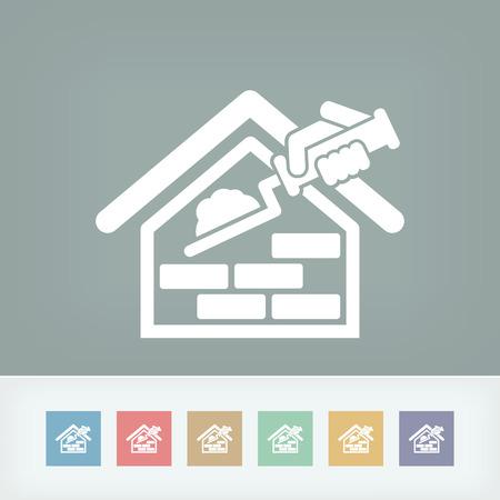 Bâtiment icône Banque d'images - 27150234