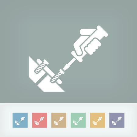 bricolage: Screwdriver icon Illustration