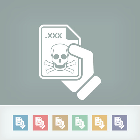 Infected file icon Stock Vector - 27150488
