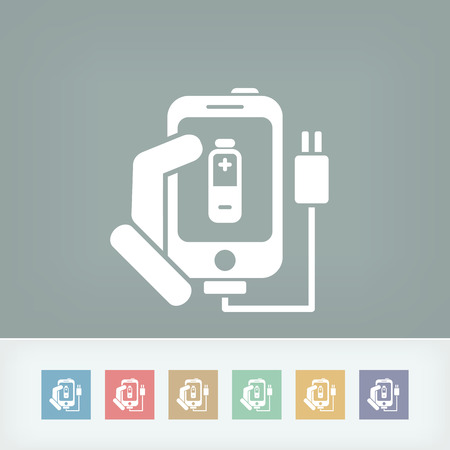 Phone charge icon Vector
