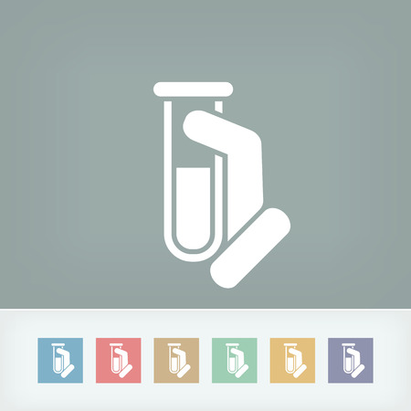 Test tube icon Stock Vector - 27150623