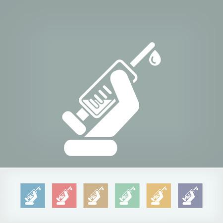 injector: Syringe icon Illustration