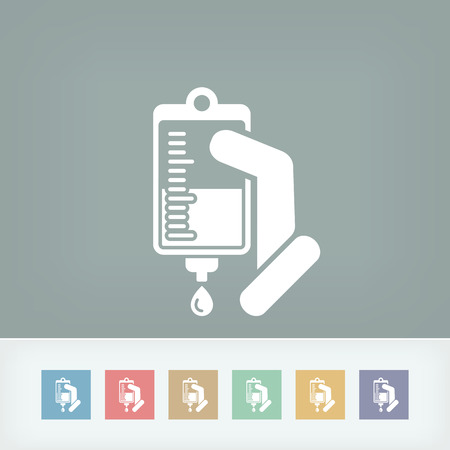 intravenous: Medical drip bag Illustration