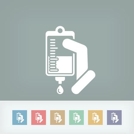 Medical drip bag Illustration