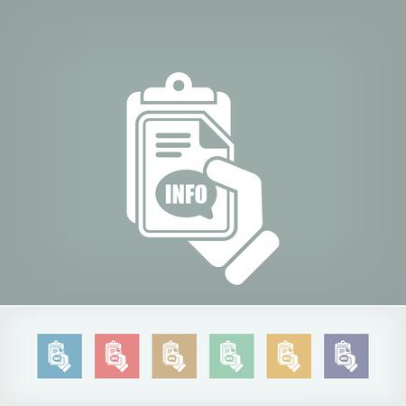 Info document icon Illustration
