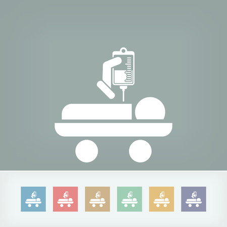 Hospital stretcher Vector