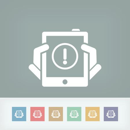Alert mobile device Stock Vector - 27150817