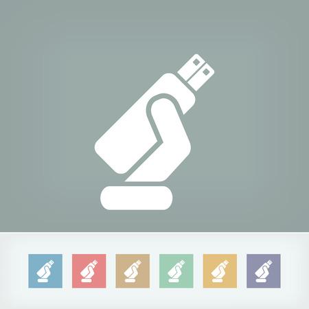 gigabyte: Usb memory icon Illustration