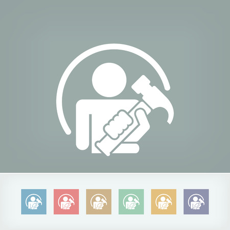 Worker icon Vector