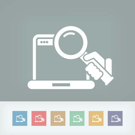 Pc search icon Stock Vector - 27150844