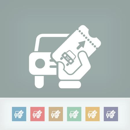 deposit slips: Card car icon