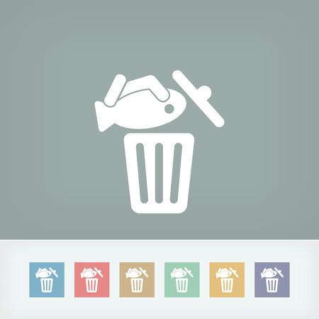 Food trash icon Stock Vector - 27150870