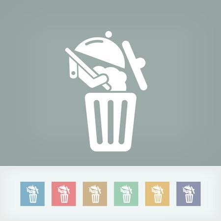 Food trash icon Stock Vector - 27150871