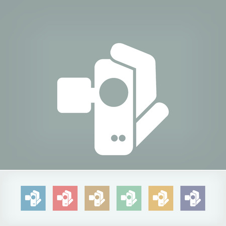 Videocamera icon Stock Vector - 27150887
