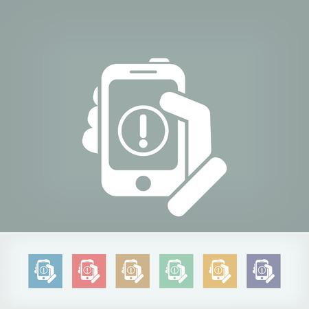 Alert mobile device Stock Vector - 27150912