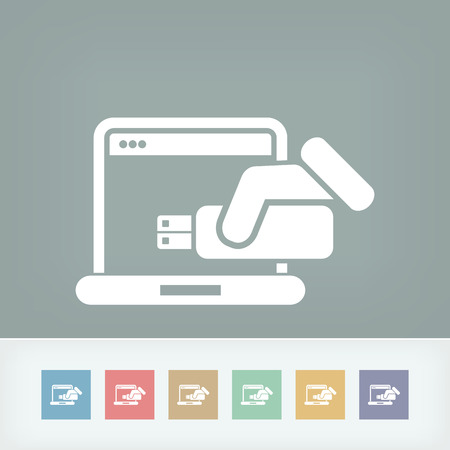 tera: Usb computer icon