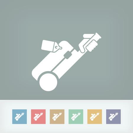 trolley case: Baggage icon Illustration
