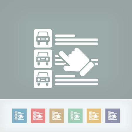 Car list selection Vector