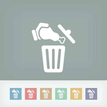 Food trash icon Stock Vector - 27151021