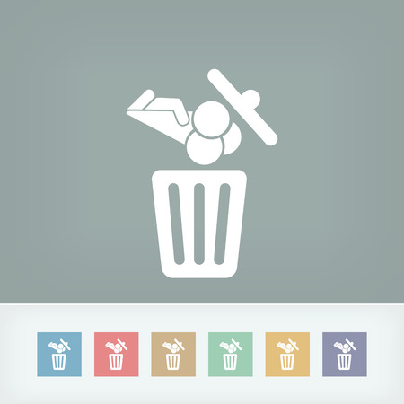 Food trash icon Stock Vector - 27151022