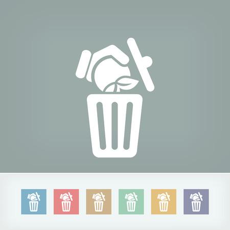 Food trash icon Stock Vector - 27151023