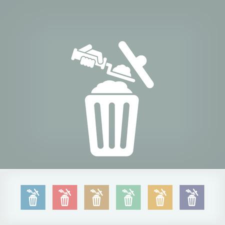 Disposal of construction materials Vector
