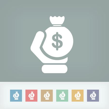 sac: Money sac icon