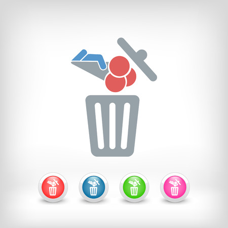 Food trash icon Stock Vector - 27151097