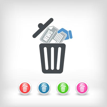 wastebasket: Trashing a news paper