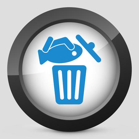 Food trash icon Stock Vector - 27151157