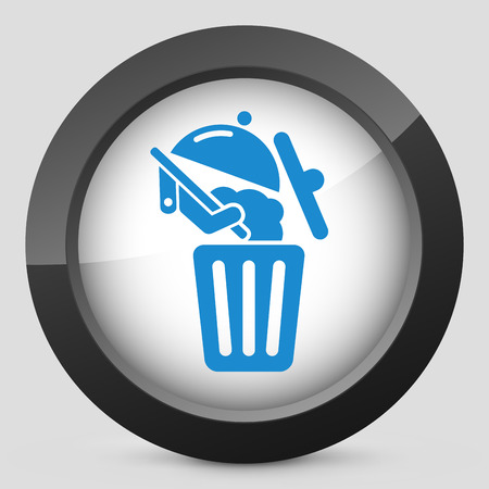 Food trash icon Stock Vector - 27151158