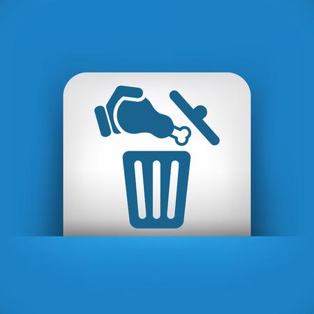 Food trash icon Stock Vector - 27151195