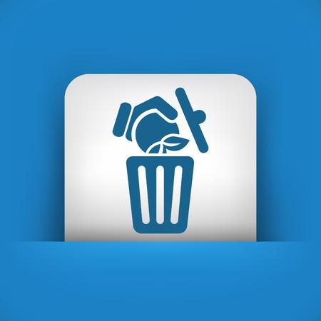 Food trash icon Stock Vector - 27151197
