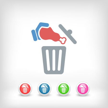 Food trash icon Stock Vector - 27151213
