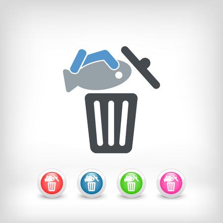 Food trash icon Stock Vector - 27151214