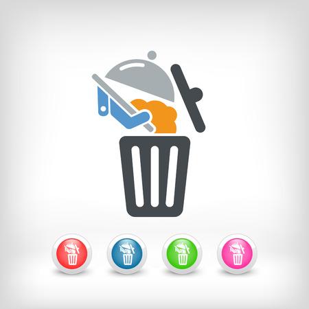 Food trash icon Stock Vector - 27151218