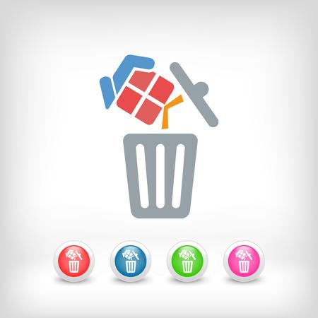 wastebasket: Trashing a gift Illustration