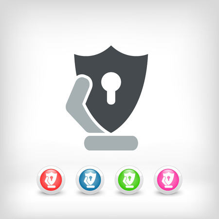 Protection shield icon Vector